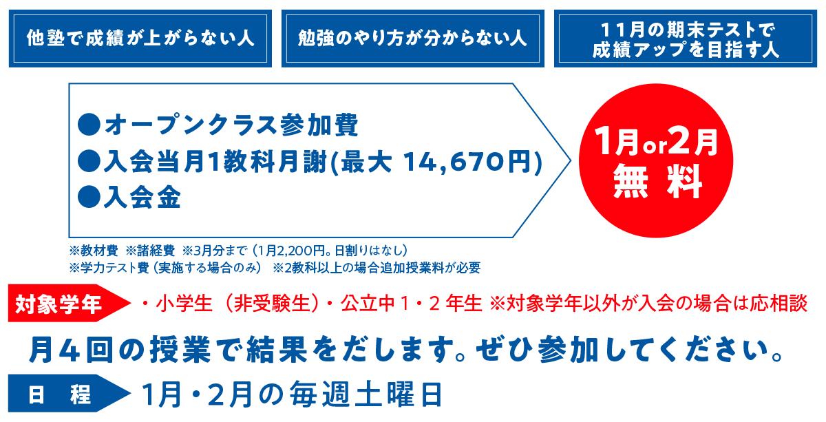 1月・2月キャンペーン